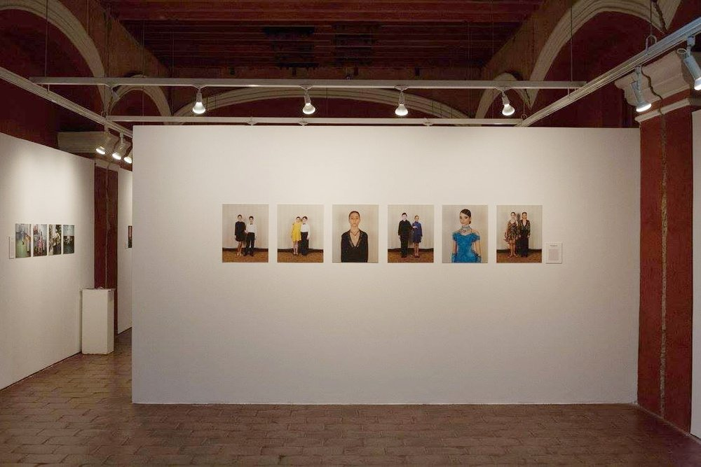 Jasmine Bakalarz 'Ballroom Dancers' installation at Foto Féminas' exhibition at GuatePhoto festival. Antigua, Guatemala. 2015