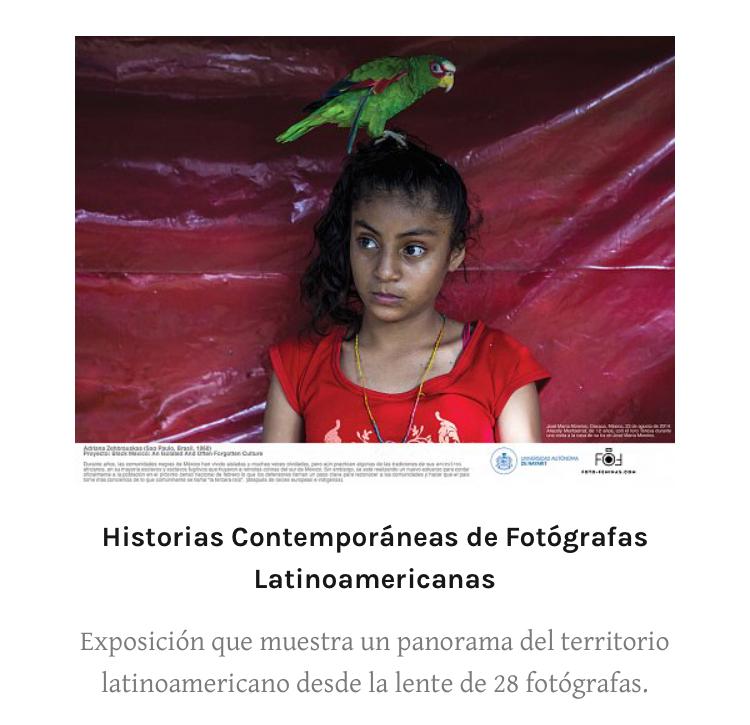 Historias contemporáneas de fotógrafas latinoamericanas