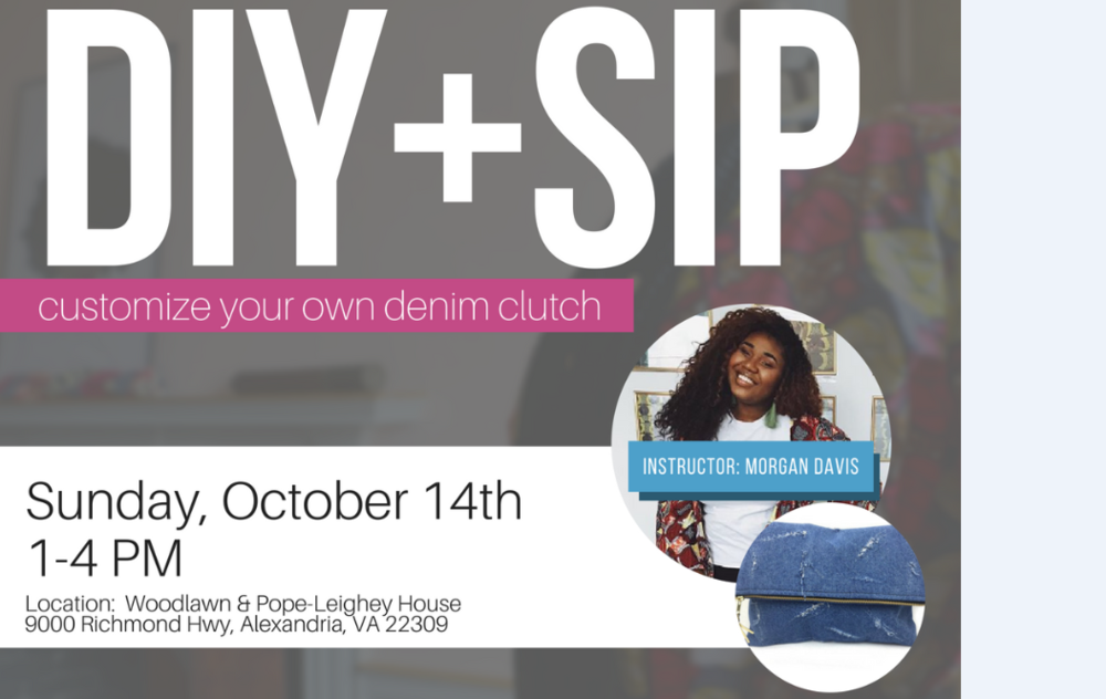 DIY + Sip: Custom Denim Clutches - Join featured maker Morgan Davis for an afternoon of