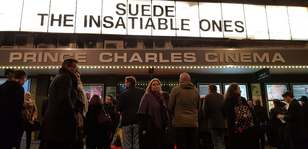 Friends and fans gather last night for Mike Christie's detailed examination of Suede's career
