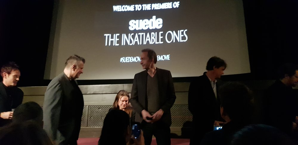 Mike Christie and Suede introduce the film to friends and fans.