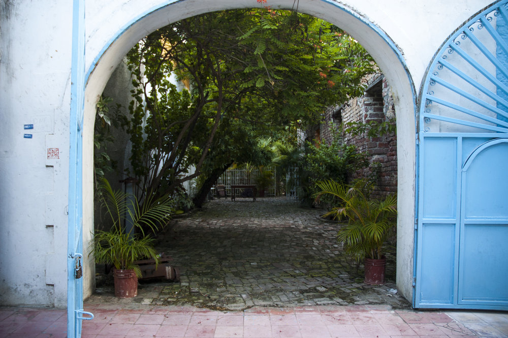 French courtyard in Jacmel