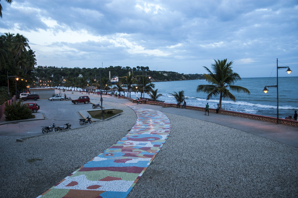 Seafront boardwalk in Jacmel