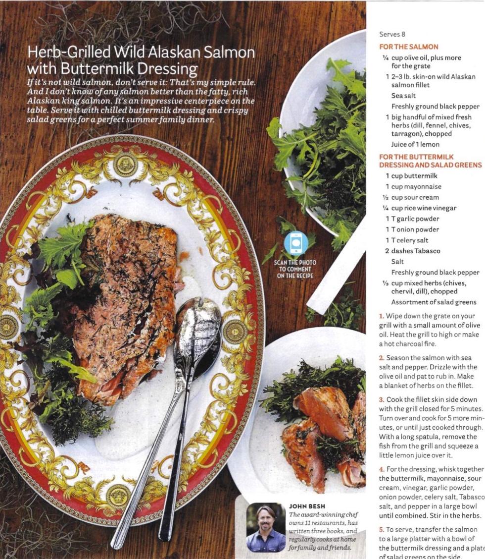 Herb Grilled Wild Alaskan Salmon With Buttermilk Dressing Chef John Besh