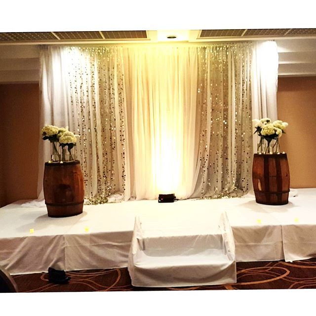 #ceremony #decor #staging#draping #barrels #arrangements #wedding #eventplanner #flower #decor #nye #cateringmadesimple #icaterevents #icatermenu
