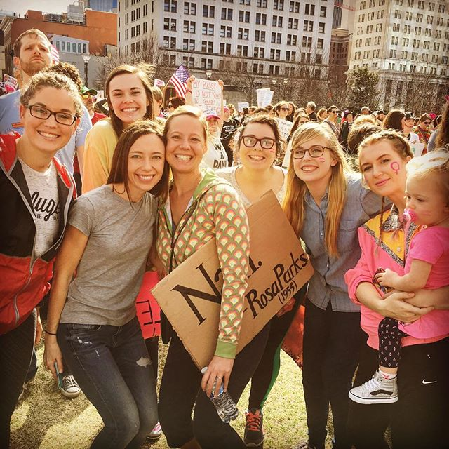 Inspired and humbled to march with the next generation of world changers today!! ✌🏿️🙌🏽💪🏾👍🏼#RESIST #lovetrumpshate #powertogethertn #womensmarch #womensmarchonwashington