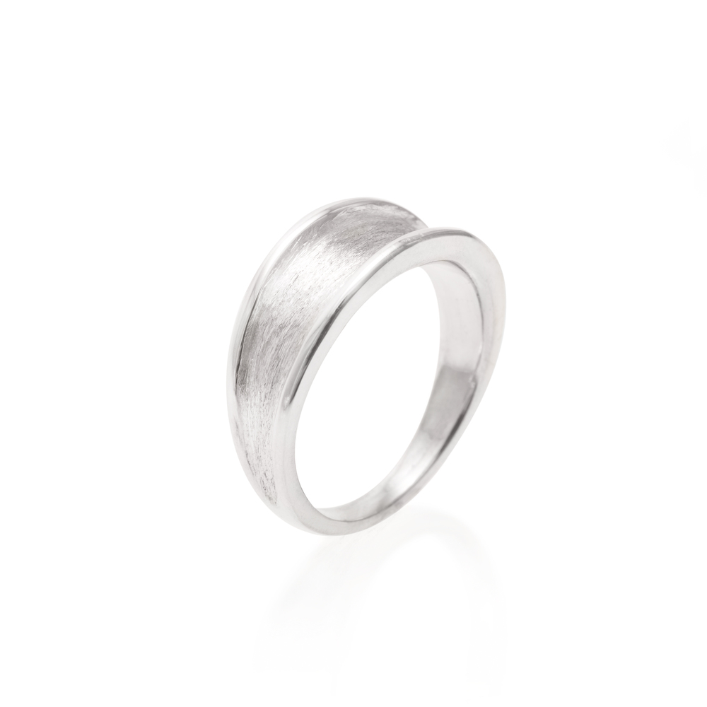 Sterling Silver Fluted Ring $60
