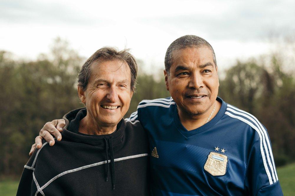Howard Kohn on the left and Adrian Baez