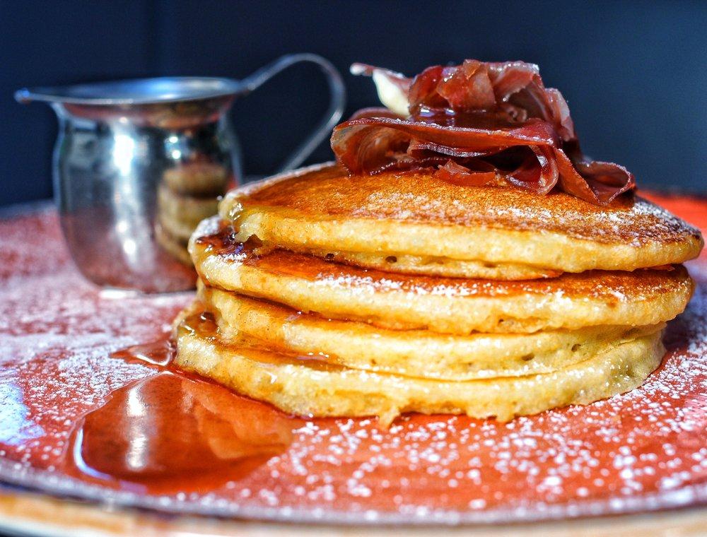 pancakes w/ prosciutto