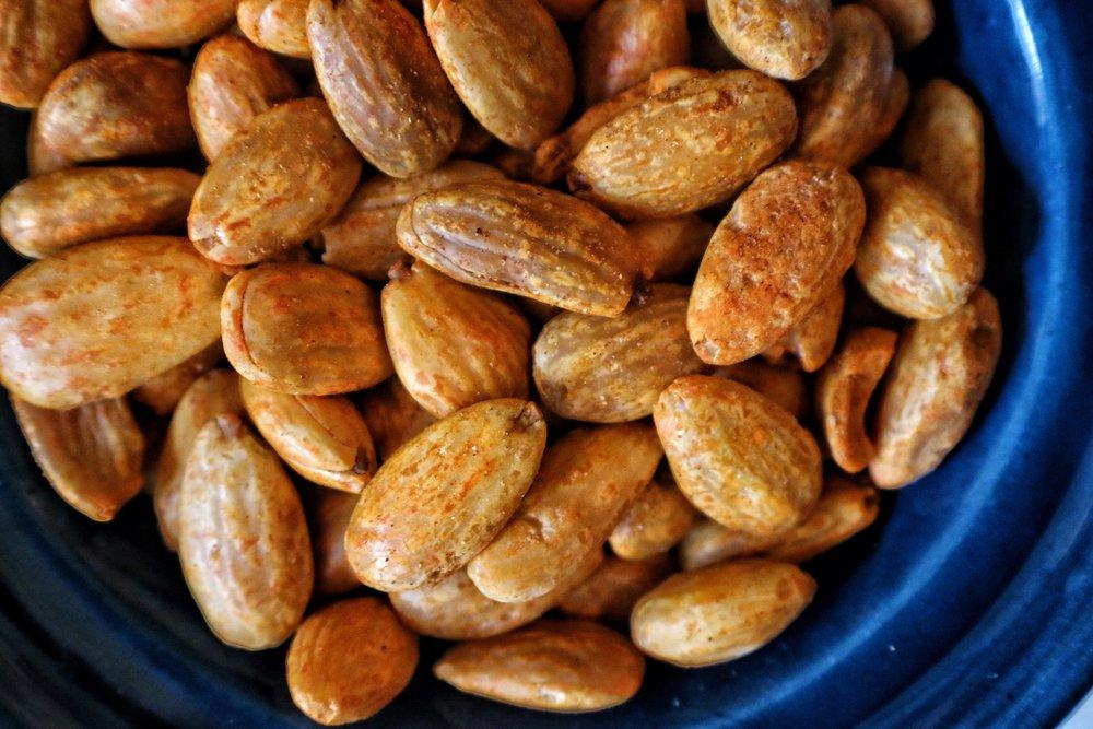 spiced almonds