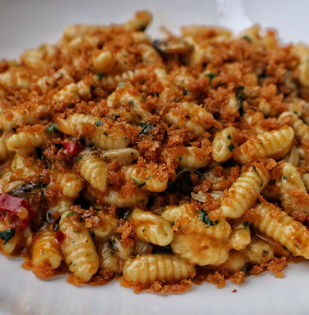 Cavatelli with Nduja Sausage, Chili & Clams