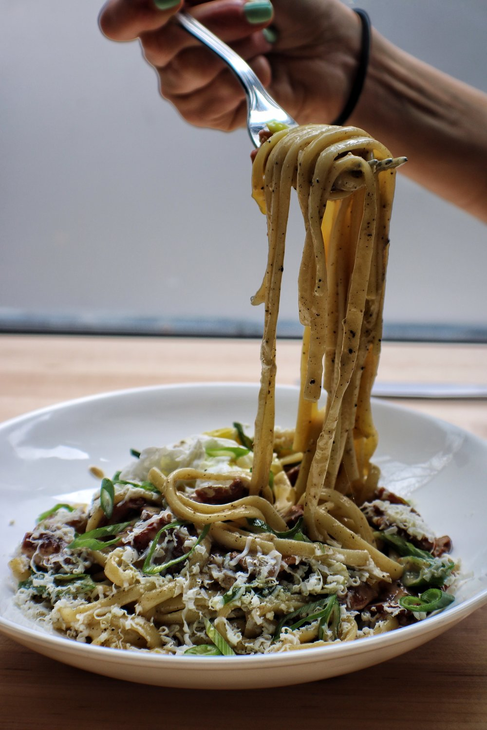 "Linguini ""Cacio e Pepe"" with Smoked Black Pepper & Pecorino"