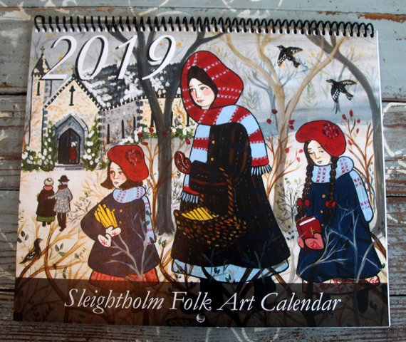 The beautiful Folk Calendar I talk about in this episode - see link below to purchase!
