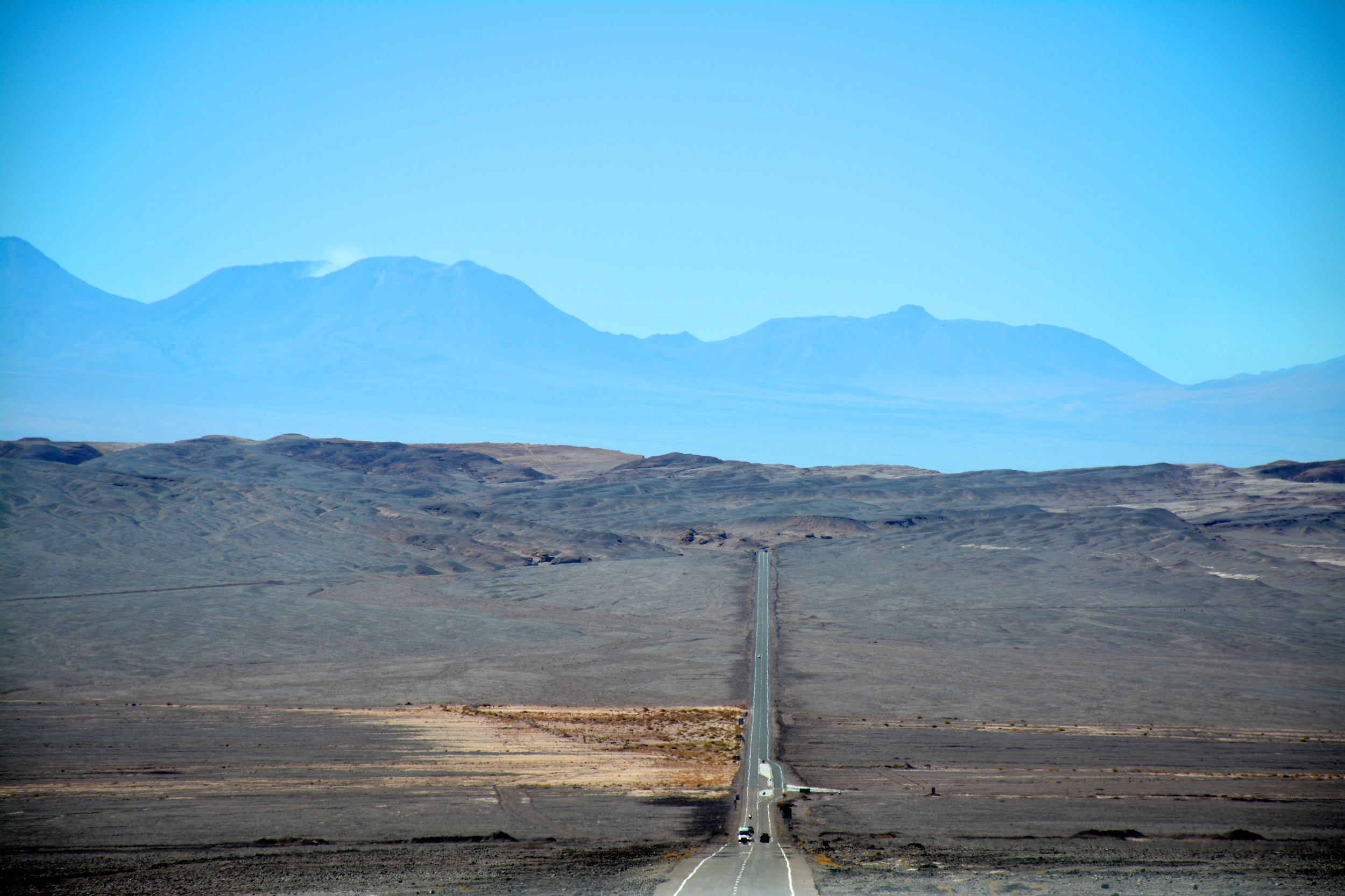 The road from Calama to San Pedro de Atacama