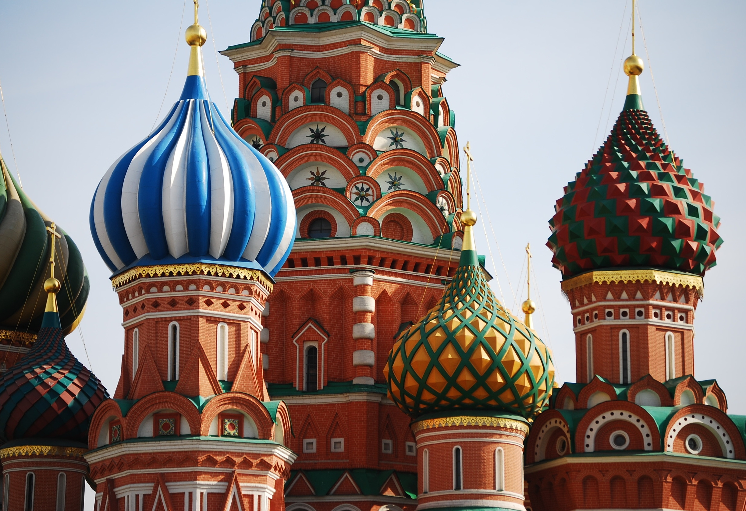 The iconic onion domes of St. Basil's Cathedral, Moscow