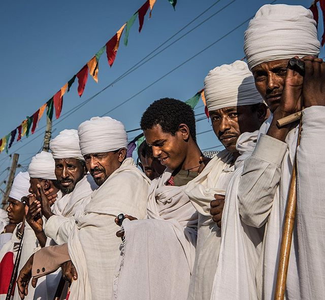 Deacons of the Ethiopian Orthodox Church gather for the Meskel celebration in Lalibela. Meskel, a holiday commemorating the Finding of the True Cross by Saint Helena in the 4th century, is one of the most important holidays for those of the faith. The ceremony and pageantry are steeped in palpable history.