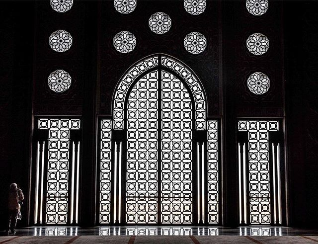 Geometric inspiration at the Hassan II Mosque, Casablanca.
