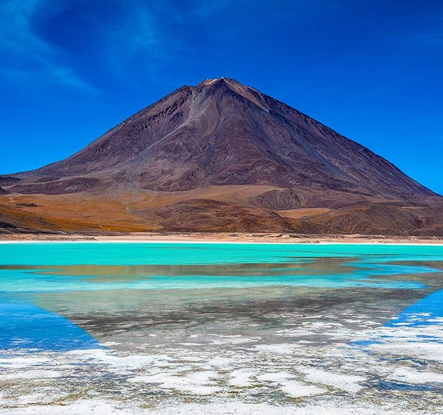 Laguna Verde in southern Bolivia, straight out of Salvador Dalí's best fantasy. To this day, the Bolivian Altiplano remains one of the most surreal and stunningly beautiful places I've ever traveled.