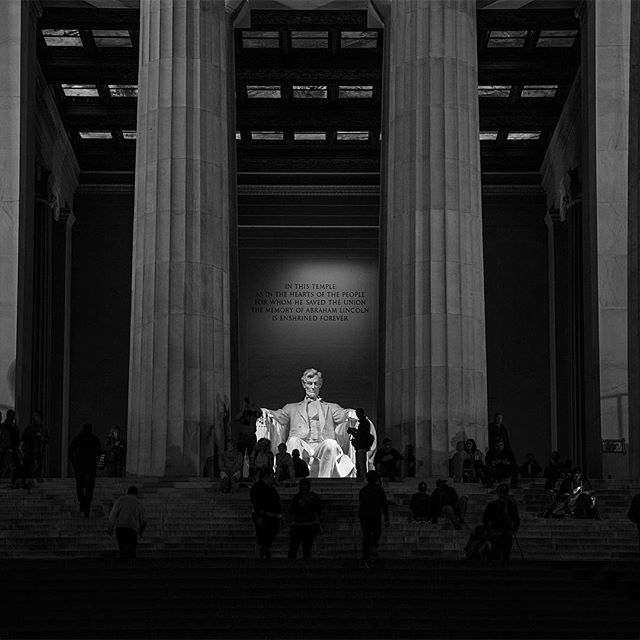 "Hometown touristing alongside all of those who wished to pay their respects to Abe on President's Day. Overheard while taking this shot: ""How many years are in a score?"""