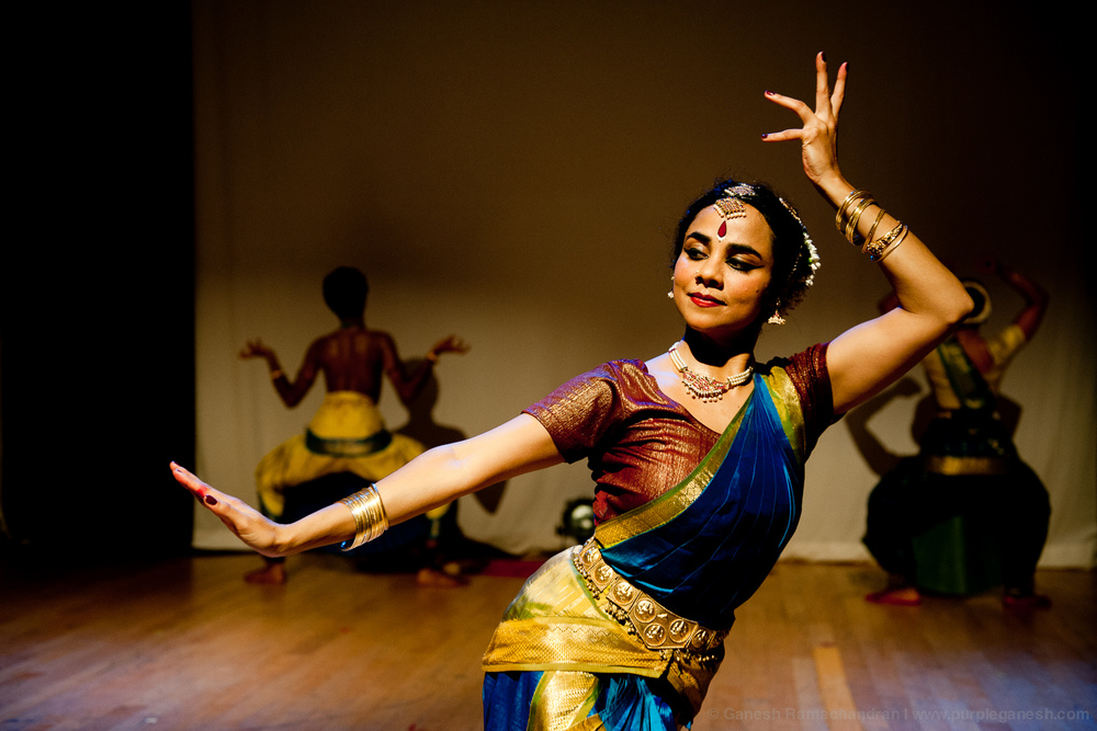 Being Becoming  at the 2012 New York International Fringe Festival,  Choreography by Malini Srinivasan, dance by Kadhambari Sridhar, Malini Srinivasan and Umesh Venkatesan. Direction by Josh Penzell | Photo: Ganesh Ramachandran