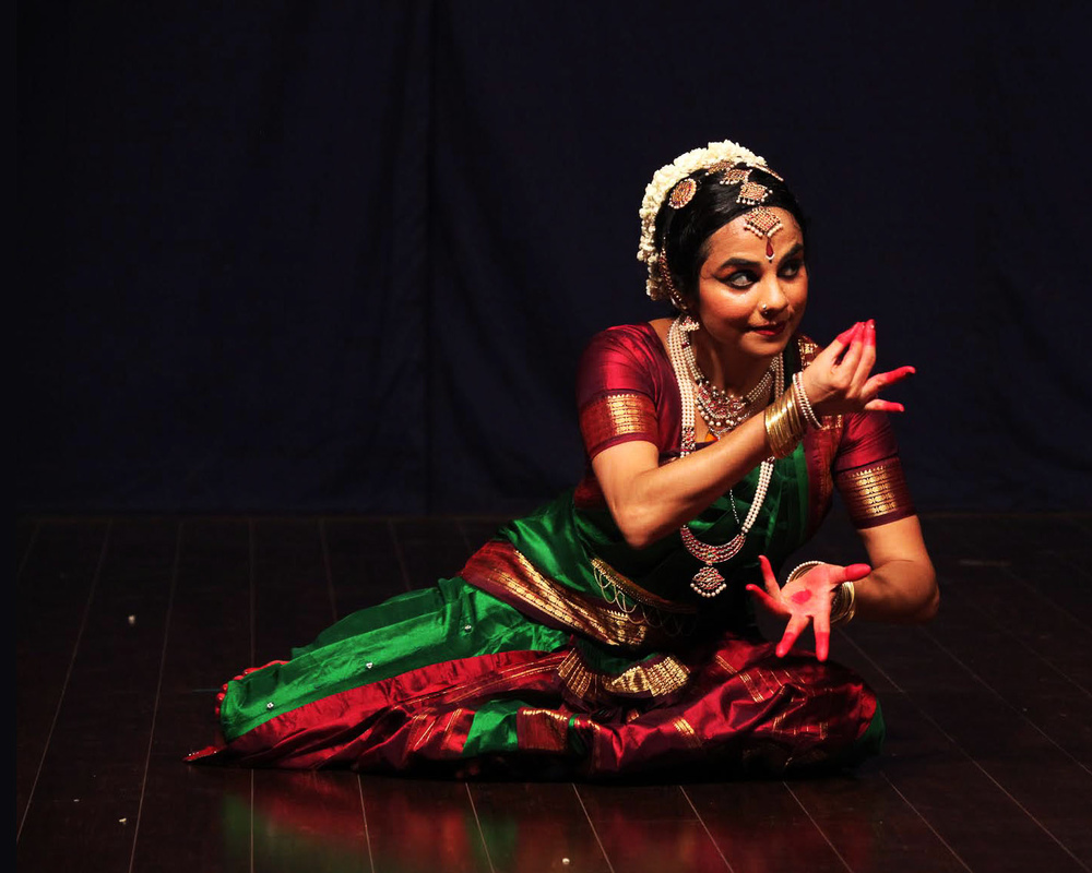 Murugan teasing his beloved | Solo Bharatanatyam at Sri Thyaga Brahma Gana Sabha, Chennai, 2013 | Photo: Chella Vaidyanathan