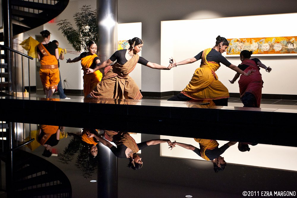 Stealing the Queen's Royal Jelly,  a collaboration with visual artist Reet Das, with Jenna Bonistalli, Malini Srinivasan, Shobana Ram, Sahasra Sambamoorthi, and Kadhambari Sridhar | Charles B. Wang Center, NY, 2011 | Photo: Ezra Margono