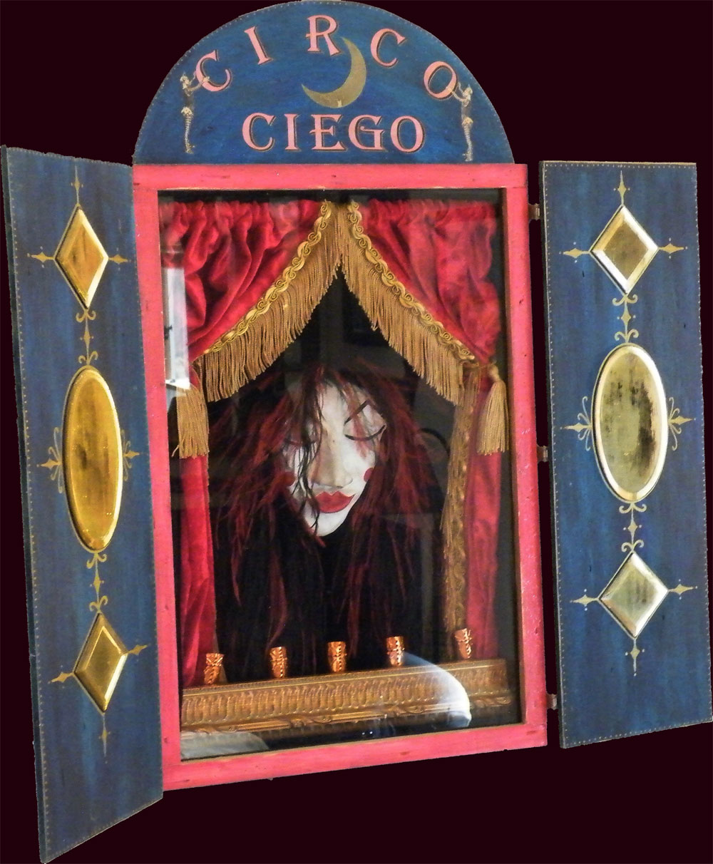 "Circo Ciego ~ 24"" x 26"" x 6""  Mixed Media ~ NFS"