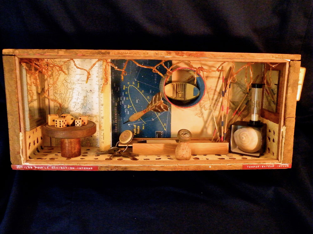 "Tools For Internal Navigation ~ 8.5"" x 20"" x 5""  Mixed Media ~ NFS"