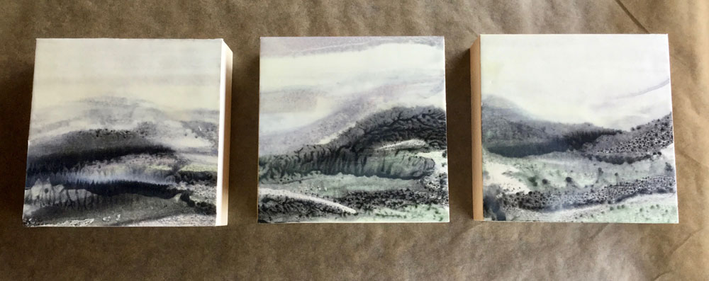 Mountain Triptych ~ 4X12 SOLD