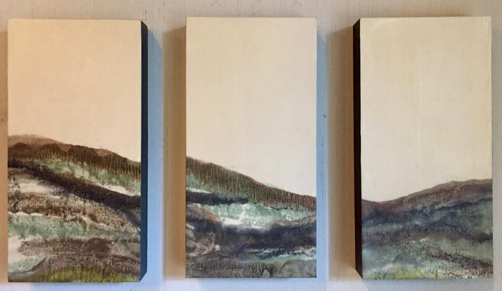 Sepia Treeline ~ 3 6X12's