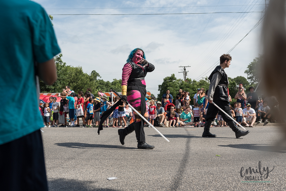 What's a parade without the Light Saber Academy showing up?!