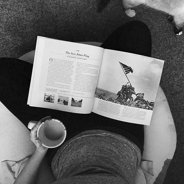 """I had """"moments – the Pulitzer-Price winning Photographs"""" in the mail yesterday evening and got up extra early today to start reading the powerful stories behind each photograph. Wherever you are, I hope you too have a great Sunday with a good book! 📚❤️"""
