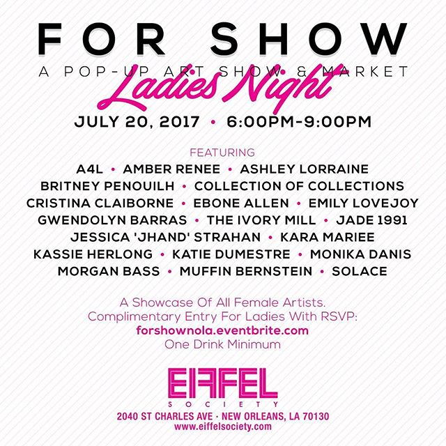 Visit us at For Show Nola this Thursday at  @eiffelsociety!forshownola.eventbrite.com/  #popupshop #femaleartist #startuplife