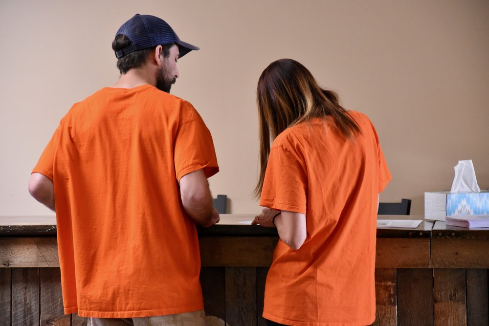 Look for the orange shirts! - iKids workers all wear orange. You'll always know who is safe for your children and who can answer your questions!