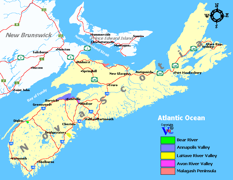 Nova Scotia Wine Regions