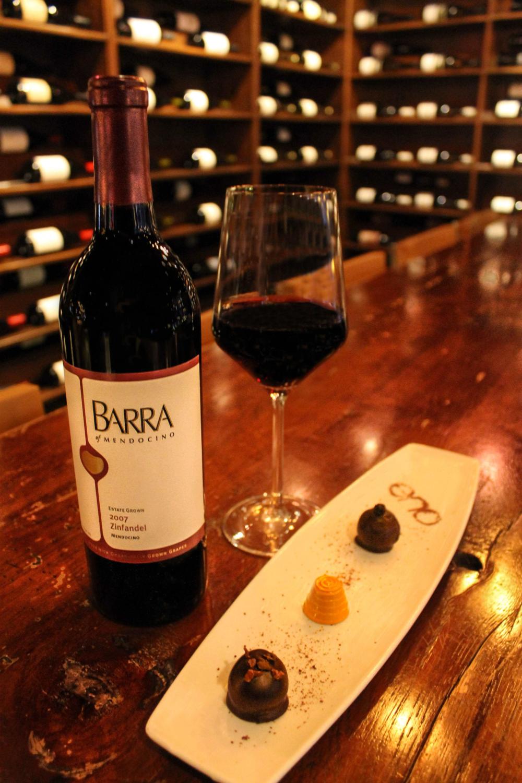 Sample selection at ENO Wine Bar