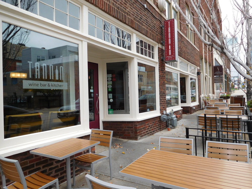 Seating outside Tanning Winebar & Kitchen