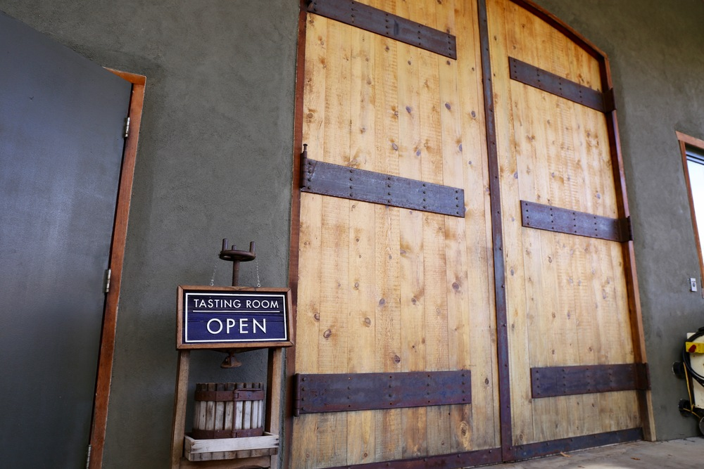 Doors to the Syncline Cellars tasting room