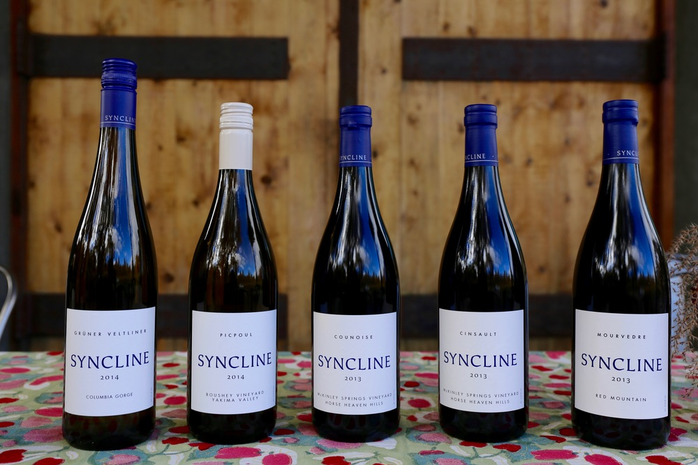 Syncline Cellars wines