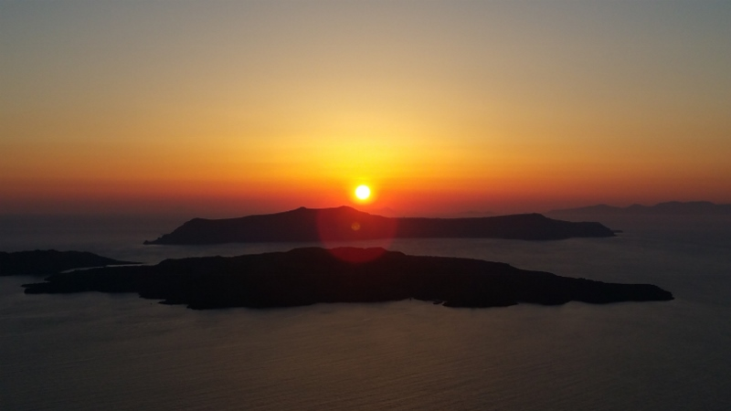 Santorini Sunset from Santo Wine Cooperative