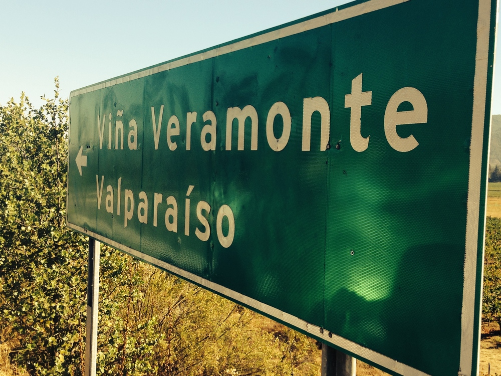 Sign to the Veramonte Winery. Credit Gabe Manzo