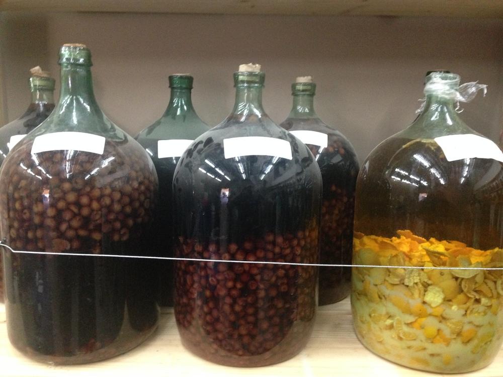 Fruit liqueurs at Bodegas RE. Credit   Gabe Manzo