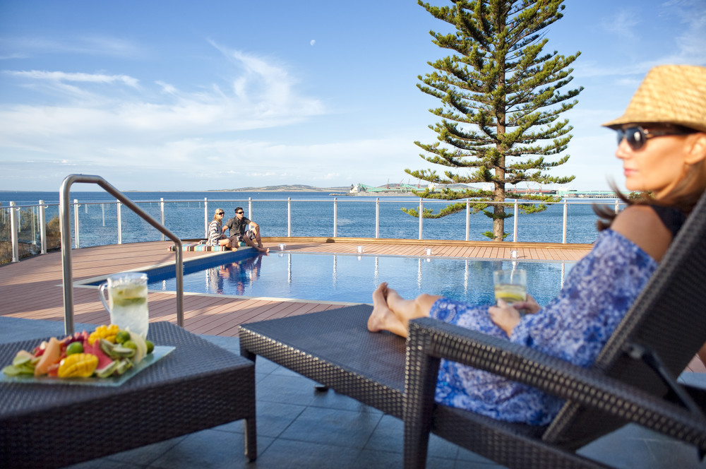 Soaking up the sun at the Port Lincol Hotel - Photograph supplied by Port Lincoln Hotel.jpg