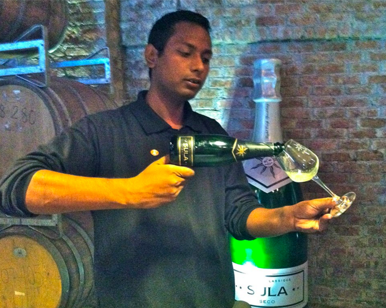 Wine Server at Sula Vineyards