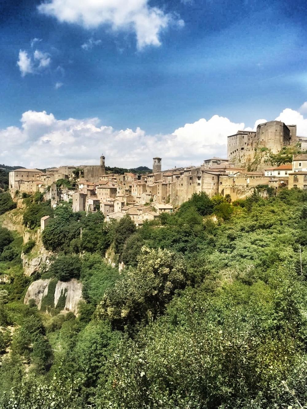 Tufa town Sorano, Maremma, Tuscany