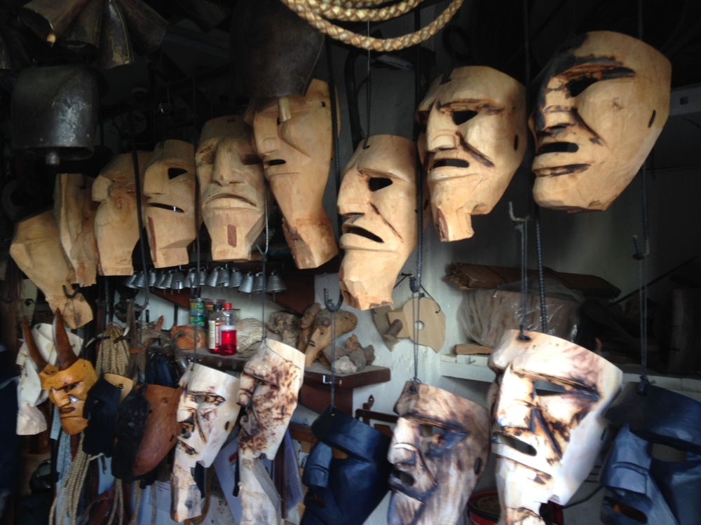 Traditional Wooden Masks at Sardinia | Photo Credit: Ezioman
