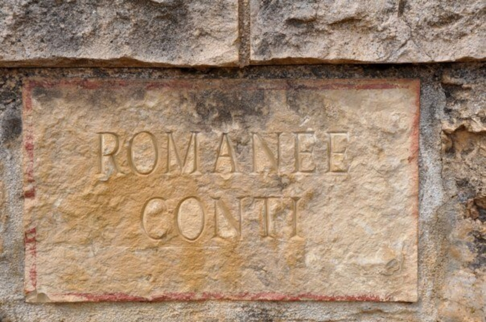Vineyard marker, Romanée-Conti, France