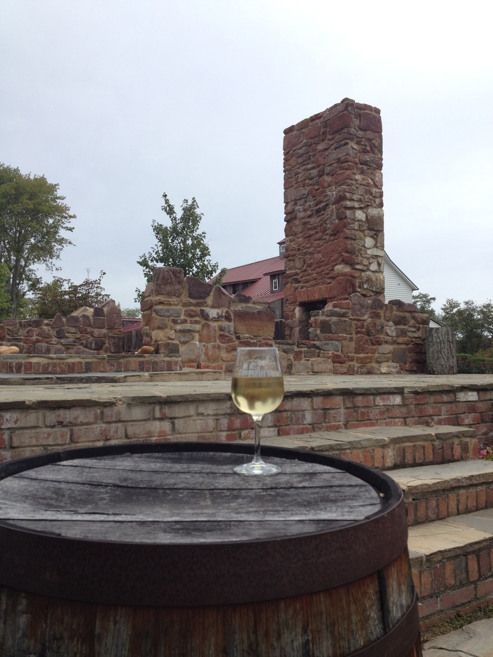 Wine among the ruins.