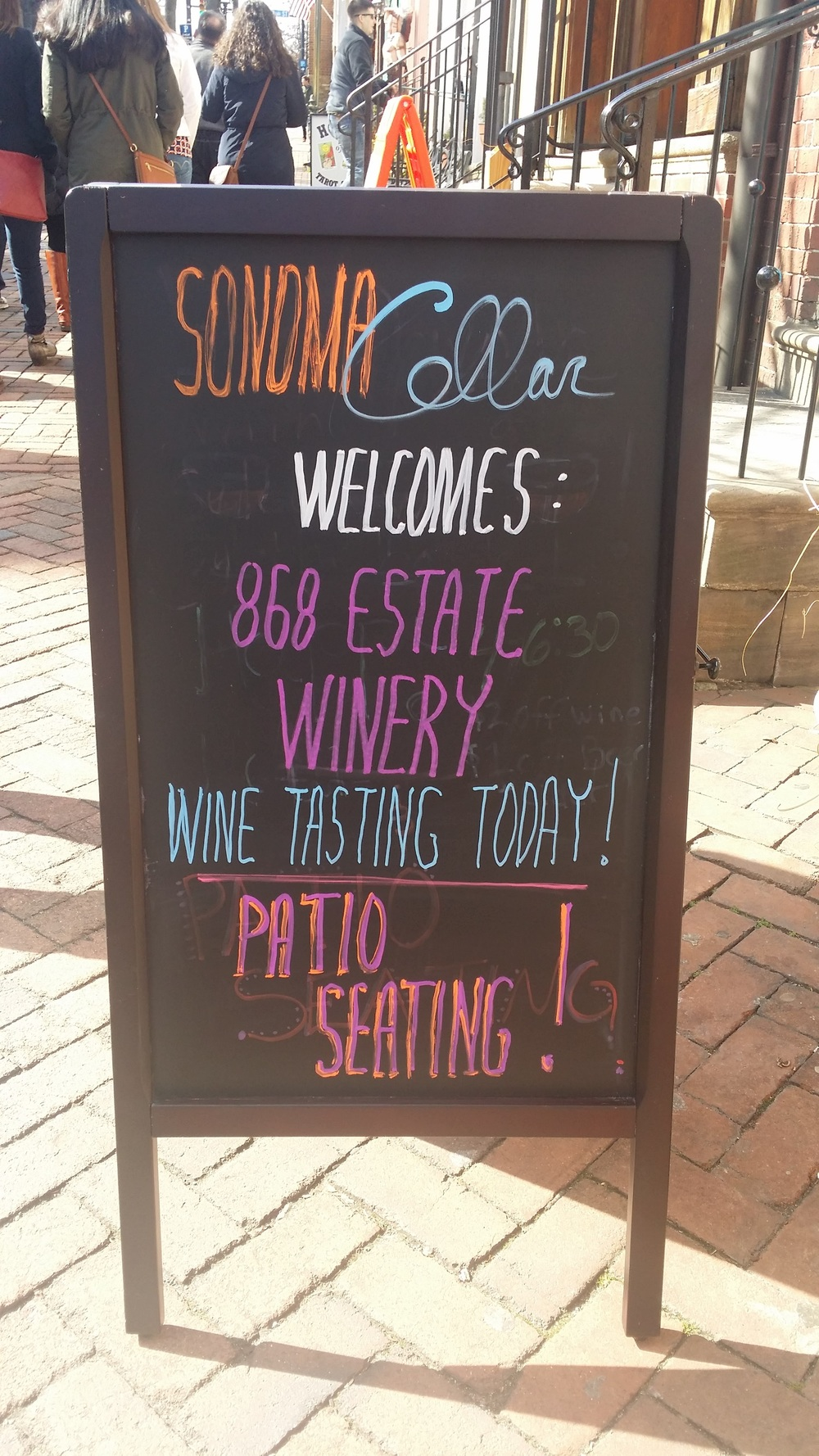 Sign in Front of Sonoma Cellars