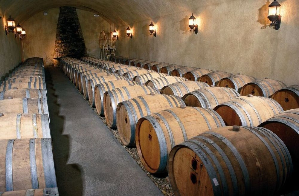Barrel Cave in Shelton Vineyards